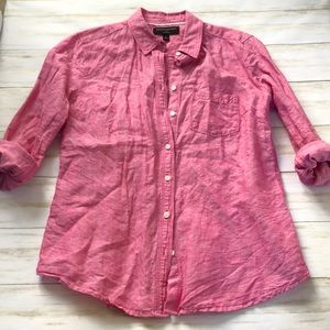 Pink Chambray Fitted Button Down